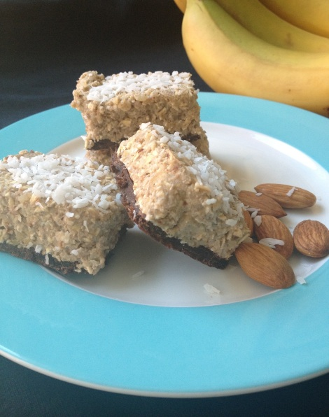 Banana, oats, walnuts, chocolate, dates
